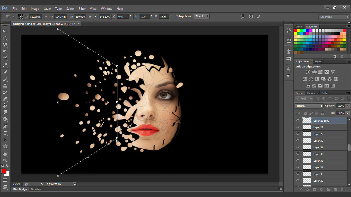 Interesting face manipulation photoshop tutorial baditri Gallery