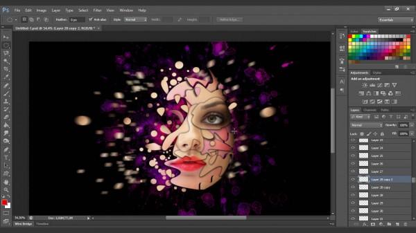 Interesting face manipulation photoshop tutorial