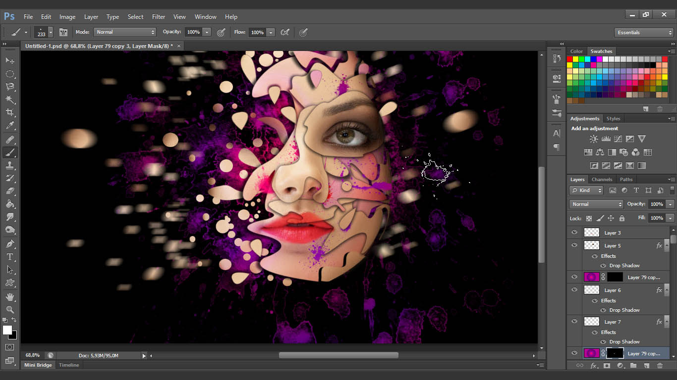 Interesting face manipulation photoshop tutorial baditri Image collections