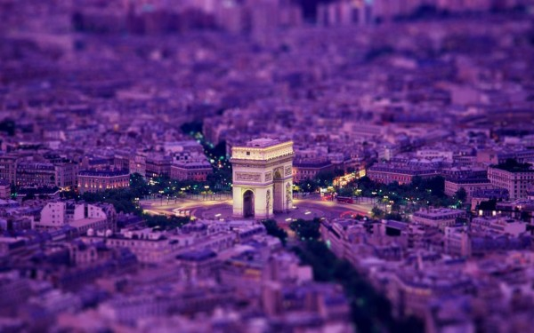 Arc de triomphe paris France 800x128x 600x375 Tilt shift miniature effect tutorial