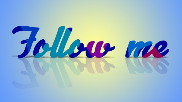 follow me 600x337 Create Amazing but Easy Text Effect in Photoshop