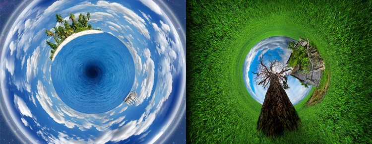 rounded world photo manipulation tutorial