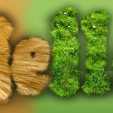 Furry / Grassy text effect tutorial