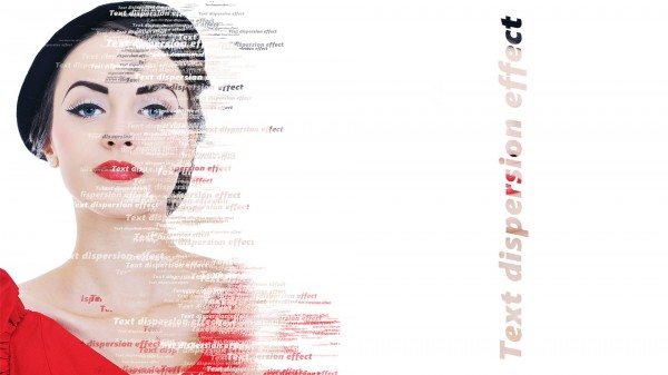 text dispersion effect 600x337 Photoshop Text Dispersion Effect | Photoshop tutorial