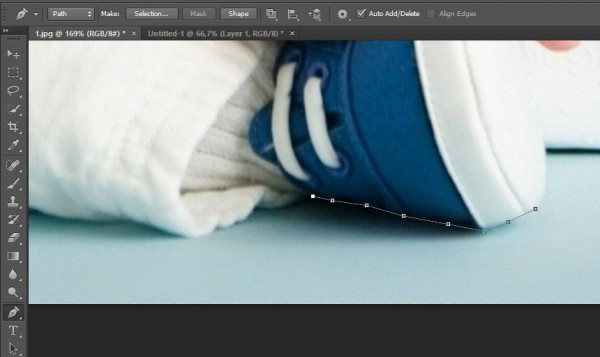 how to start and end the pen photoshop